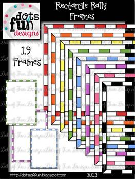 Clip Art Frames and Borders: Rectangle Rally ~DOF Designs~