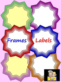 Frames and Labels - Clip Art - Personal or commercial use