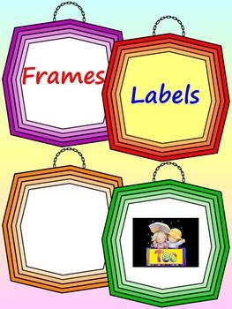 Labels -  Frames - Clip Art