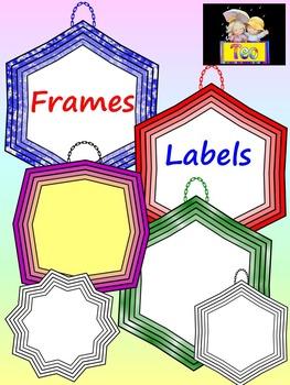 Classroom Decor - 135 Labels and Frames Clip Art - Bundle - Save 50%