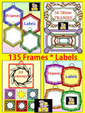 Classroom Decor 135 Labels and Frames Clip Art Bundle Save 50%