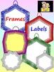Classroom Decor - 135 Labels and Frames Clip Art - Bundle