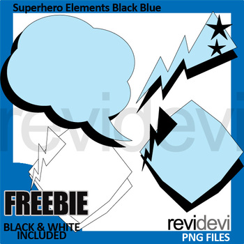Clip Art Free Download - Superhero elements blue black clipart