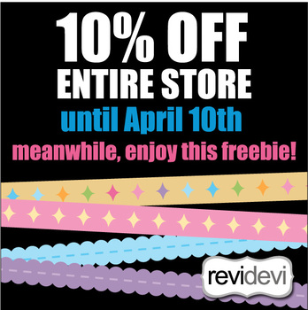 Clip Art Free - Long Ribbons Pastel for activities