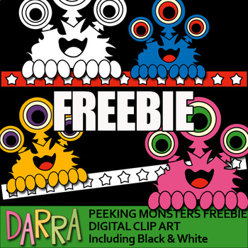 Clip Art Free - Monsters by DARRA