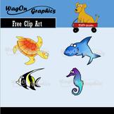 Clip Art: Free Ocean Animals