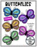 Clip Art Freebie! Butterflies
