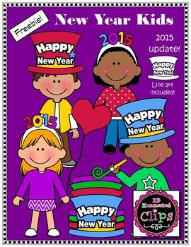 clip art freebie happy new year kids
