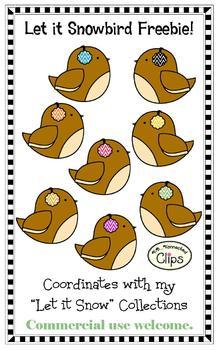 Clip Art Freebie - Let it Snowbirds!