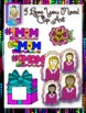 Clip Art Freebie Set~I Love You Mom!  Happy Mother's Day