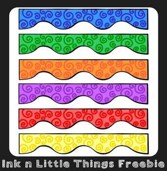 Clip Art Freebie - Spiral Wiggle Borders {Ink n Little Thi
