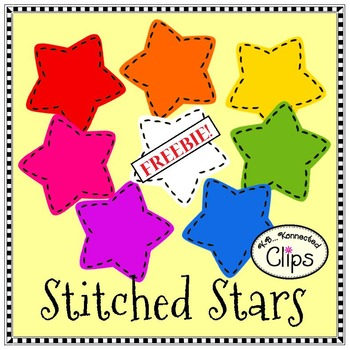 Clip Art Freebie! Stitched Stars