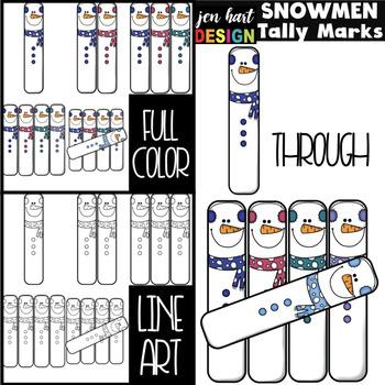 Snowmen Tally Marks Freebie {jen hart Clip Art}