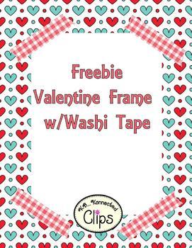 Clip Art Freebie! Valentine Frame with Washi Tape