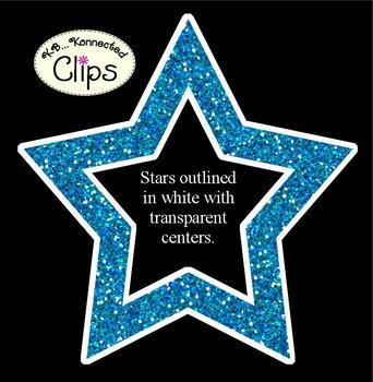 Clip Art Freebie...Glitter Stars!