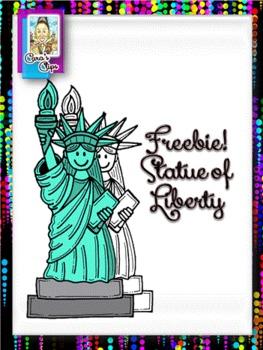 Clip Art Freebie`Statue of Liberty