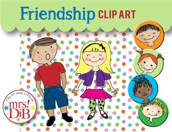 Clip Art - Friendship -ORIGINAL ARTWORK