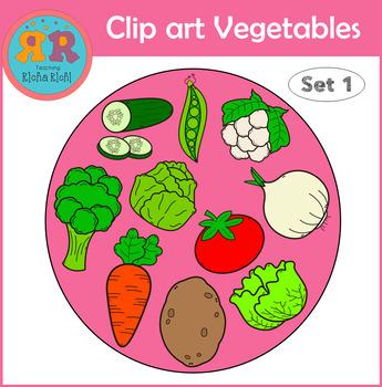 Clip Art Vegetables Set 1