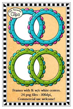 Clip Art - Fun Foam Circle Frames