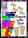 Clip Art~ Footprints in the Sand
