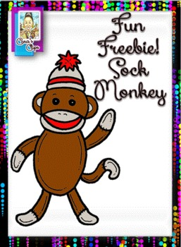 Clip Art Fun Freebie~ Sock Monkey