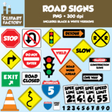 Clip Art: Fun Road Signs - Traffic Signs - 51 total images