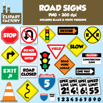 clip art fun road signs traffic signs 51 total images