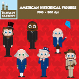 Clip Art: Fun w/American Historical Figures - 6 Characters from American History