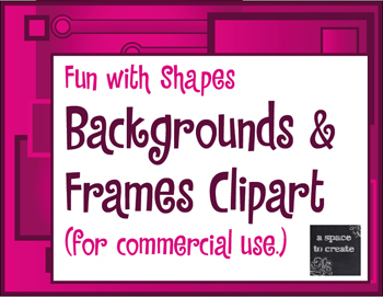 Clip Art: Fun with Shapes for Commercial Use