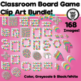Clip Art Game Board Pieces / Cards / Spinners - 168 Images!