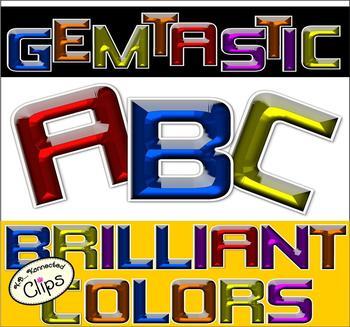 Clip Art - Gemtastic Uppercase Alphabet