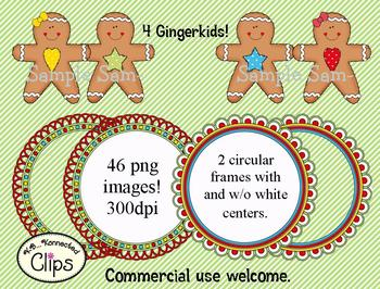 Clip Art ~ Gingerbread Friends Collection