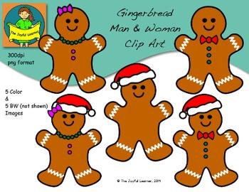 Clip Art: Gingerbread Man & Woman