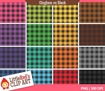Gingham Backgrounds - 16 Digital Papers