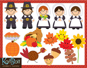 Clip Art - Give Thanks, Thanksgiving Clip Art