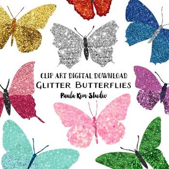 Glitter Butterfly Clipart