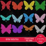 Clip Art - Glitter Butterfly