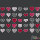 Clipart - Glitter Hearts Set of 35