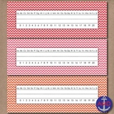 Bright Chevron Name Tags & Sentence Strip Printables in 3 styles