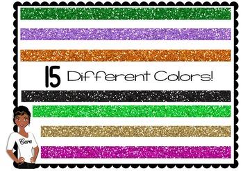 Clip Art~ Glitter Page Dividers