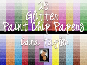 Clip Art~ Glitter Paint Chip (Ombre) Digital Papers