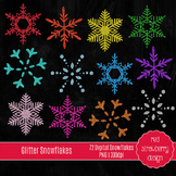 Clip Art - Glitter Snowflakes