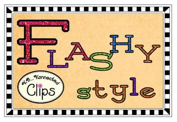 Clip Art - Glitter Thinnies - Upper & Lowercase Alphabet