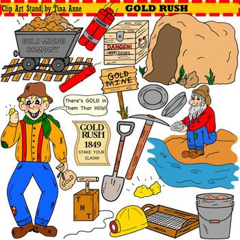 clip art gold rush by clip art stand by tina anne tpt rh teacherspayteachers com Gold Shapes california gold rush clipart