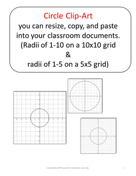Clip Art Graphs of Circles for Cutting, Pasting, and Resizing into Documents