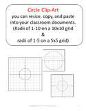 Clip Art Graphs of Circles for Cutting, Pasting, and Resiz