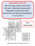 Clip Art Graphs of Hyperbolas for Cutting, Pasting, and Re
