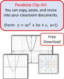 Clip Art Graphs of Parabolas for Cutting, Pasting, and Res