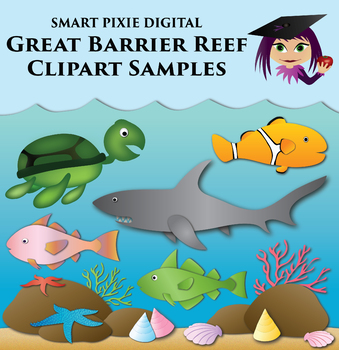 Clip Art- Great Barrier Reef - Bundle samples