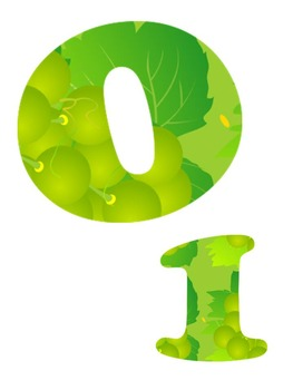 Clip Art: Green Grape Alphabet